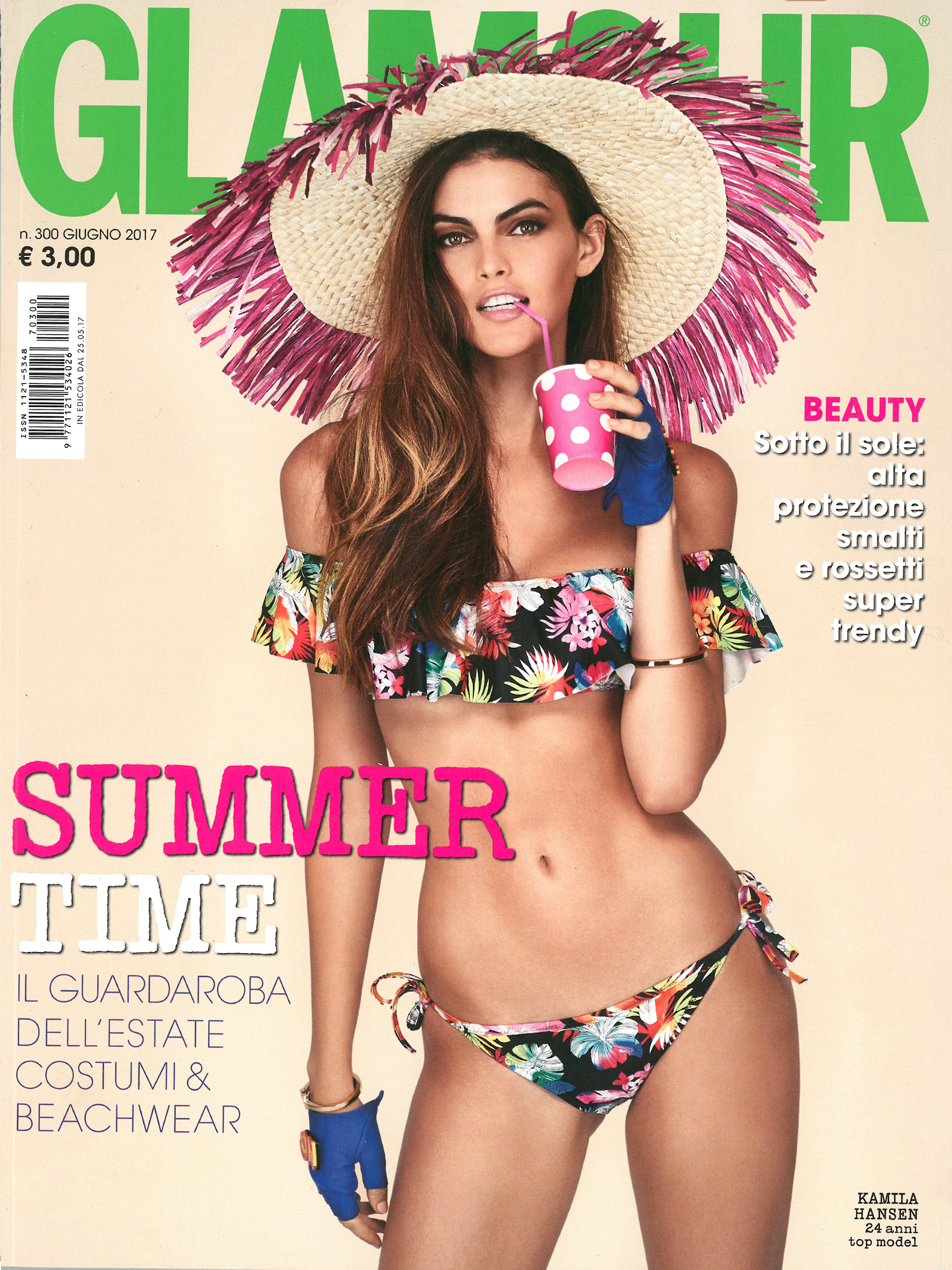 00 cover Kamila Hansen Glamour June issue
